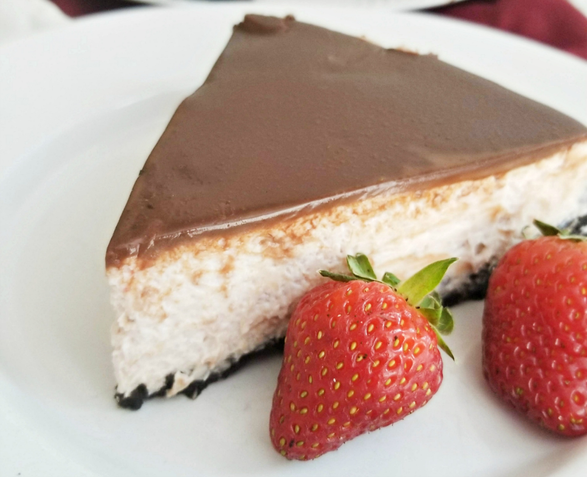 Strawberry Cheesecake Covered in Chocolate