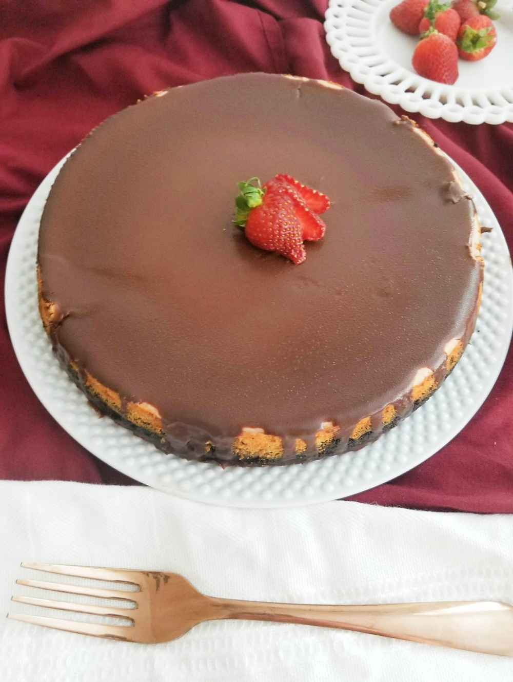 Best Chocolate Covered Strawberry Cheesecake Recipe