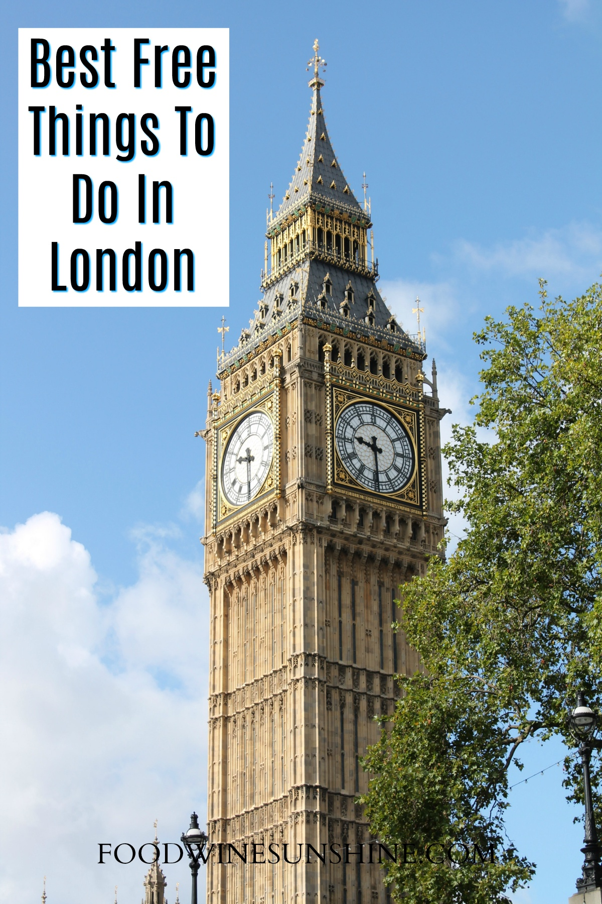 Top 17 Free Things To Do In London | London England is over 2000 years old, with all that history, there are plenty of Free Things To Do In London. Be sure to add this list of free things to do in London to your travel itinerary. For more travel tips and budget travel plans visit foodwinesunshine.com