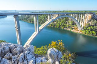 Krka Bridge on Drive To Bibich