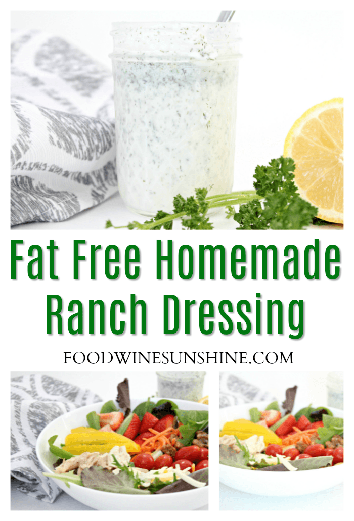 Fat Free Homemade Ranch Dressing Recipe