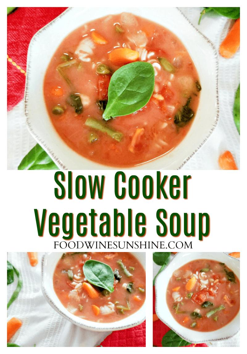 Tasty Slow Cooker Vegetable Soup