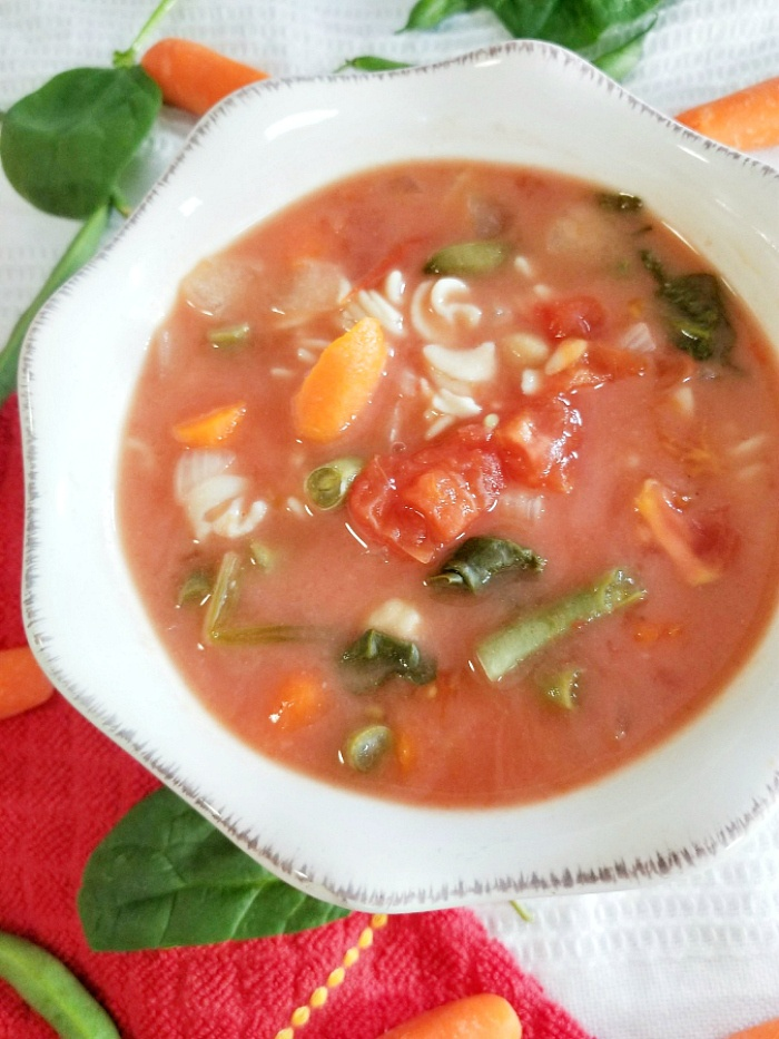 Best Vegetable Soup with Noodles made in Slow Cooker