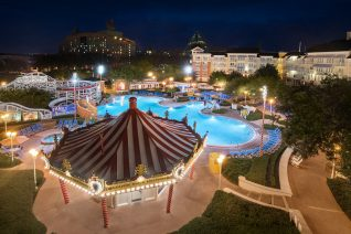 Disney Boardwalk Pool area