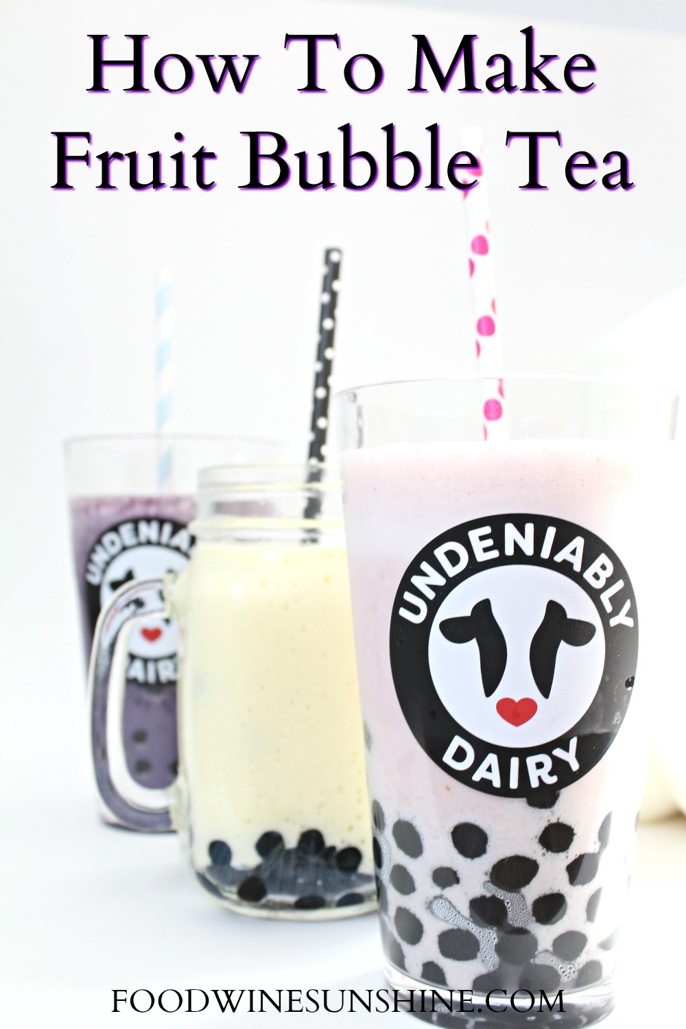 How To Make Fruit Bubble Teas at home