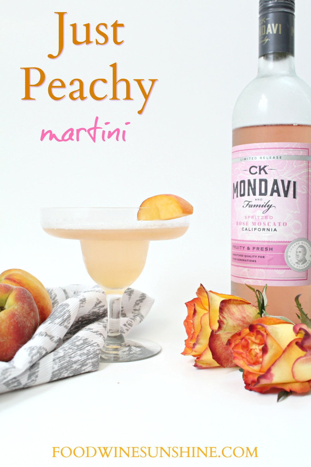 Easy Fresh Peach Martini