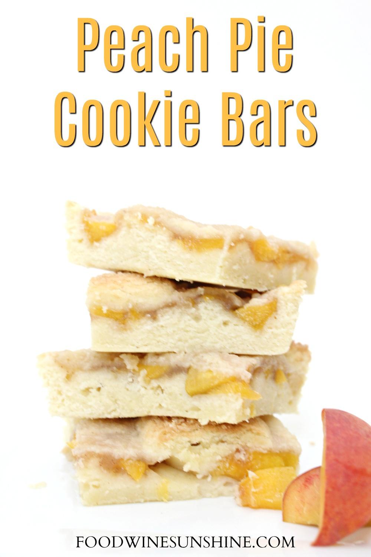 Easy Sugar Cookie Peach Pie Cookie Bars