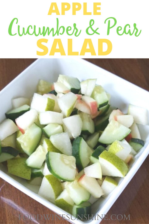 best apple cucumber pear salad