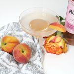 Just Peachy Martini in Clear Glass