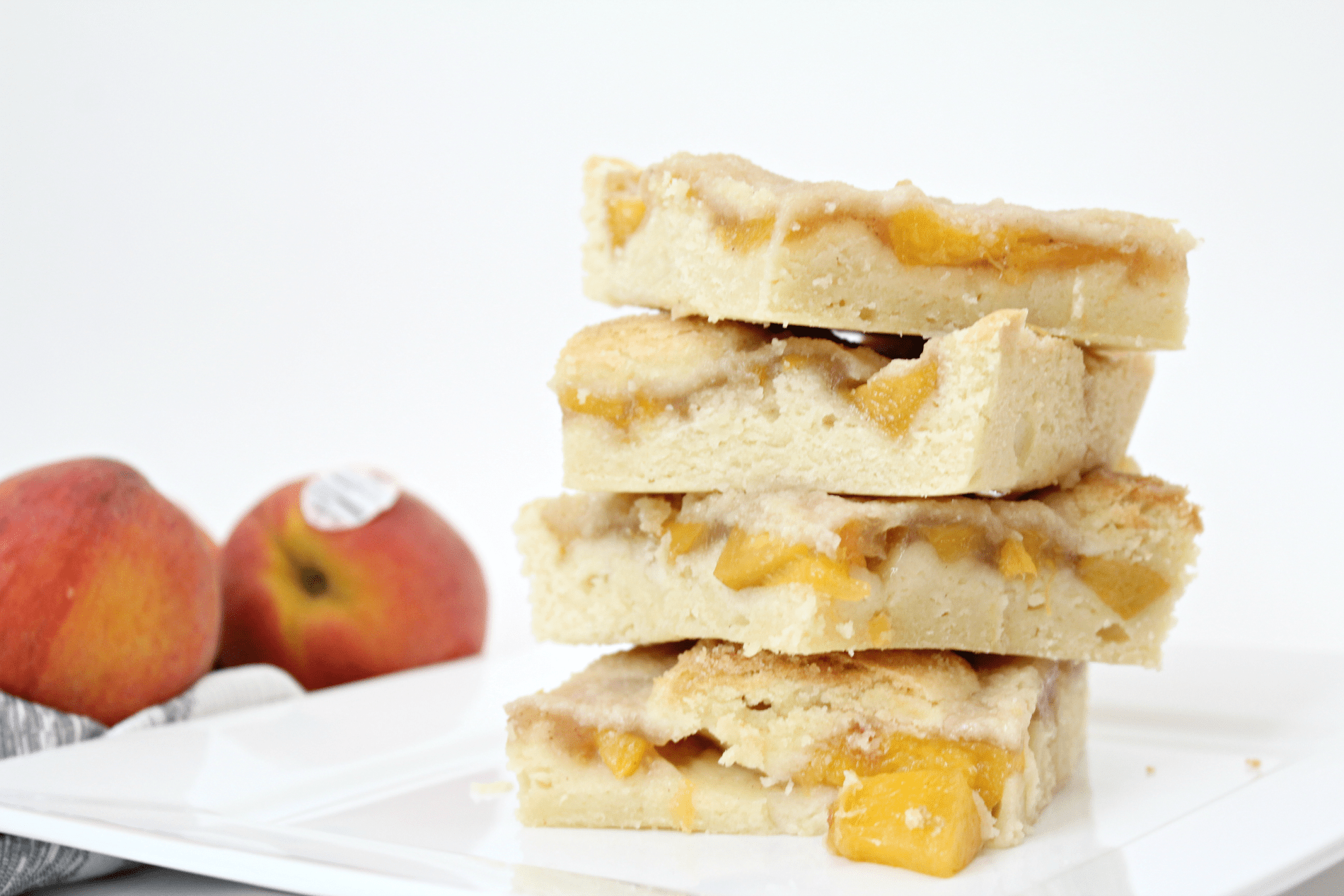 Homemade Peach Pie Bars
