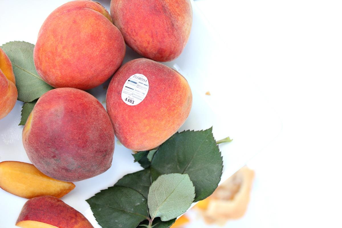 Peach Pie Bars made with Florida Peaches