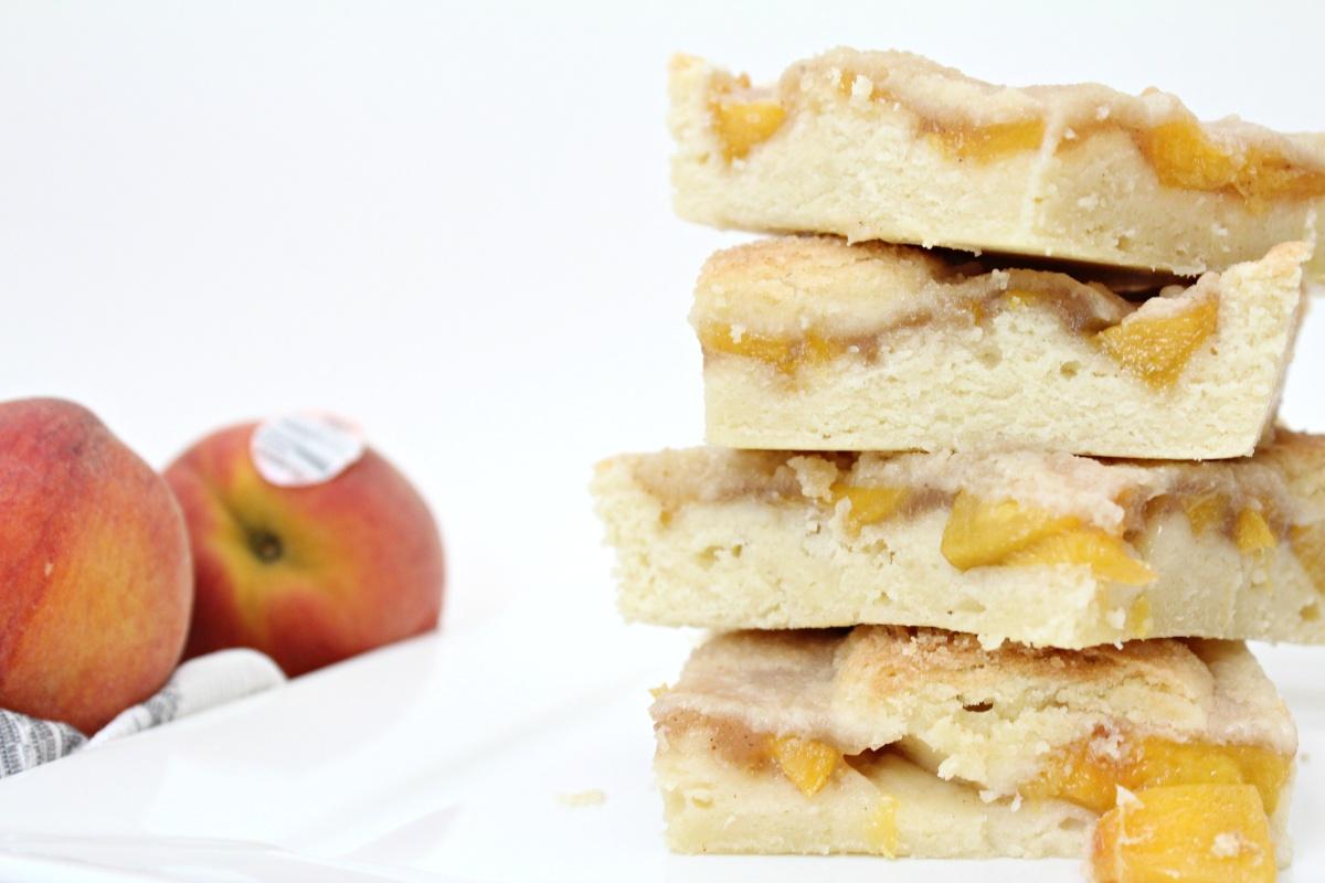 Easy Peach Pie Cookie Bars