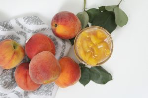 Peach Pie Filling in Peach Pie Bars Recipe