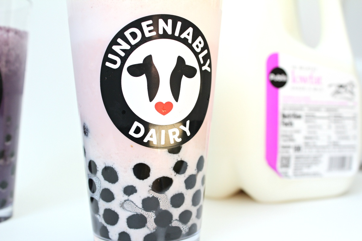 Strawberry Bubble Tea made with Milk