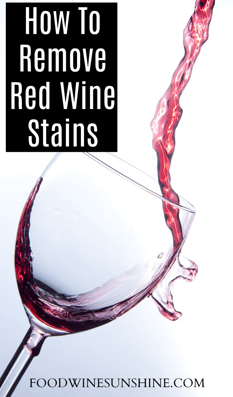 How to clean red wine stains