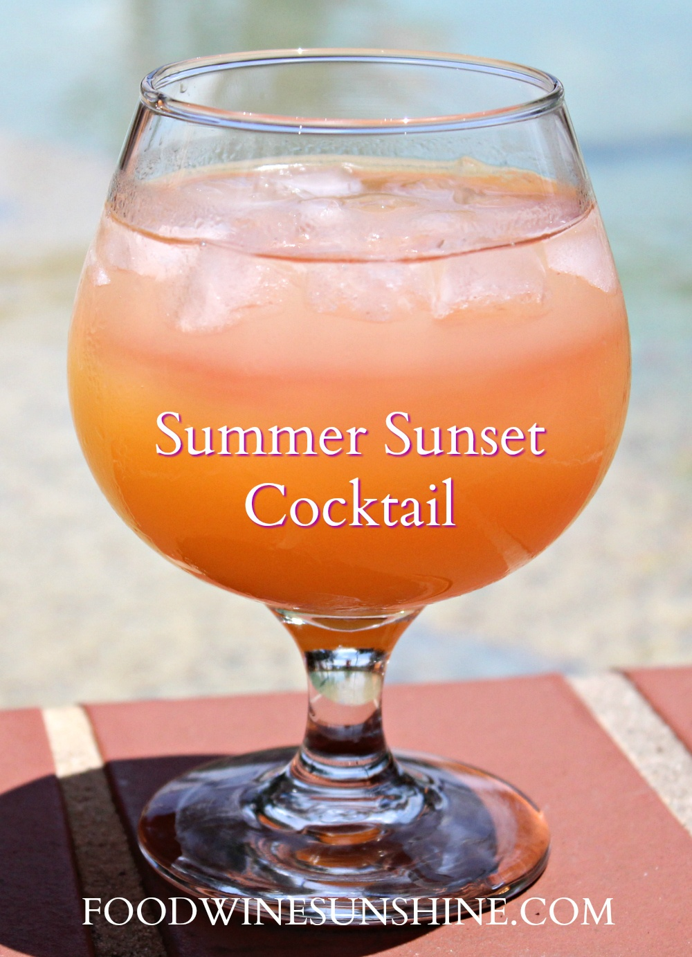 Tasty Summer Sunset Cocktail