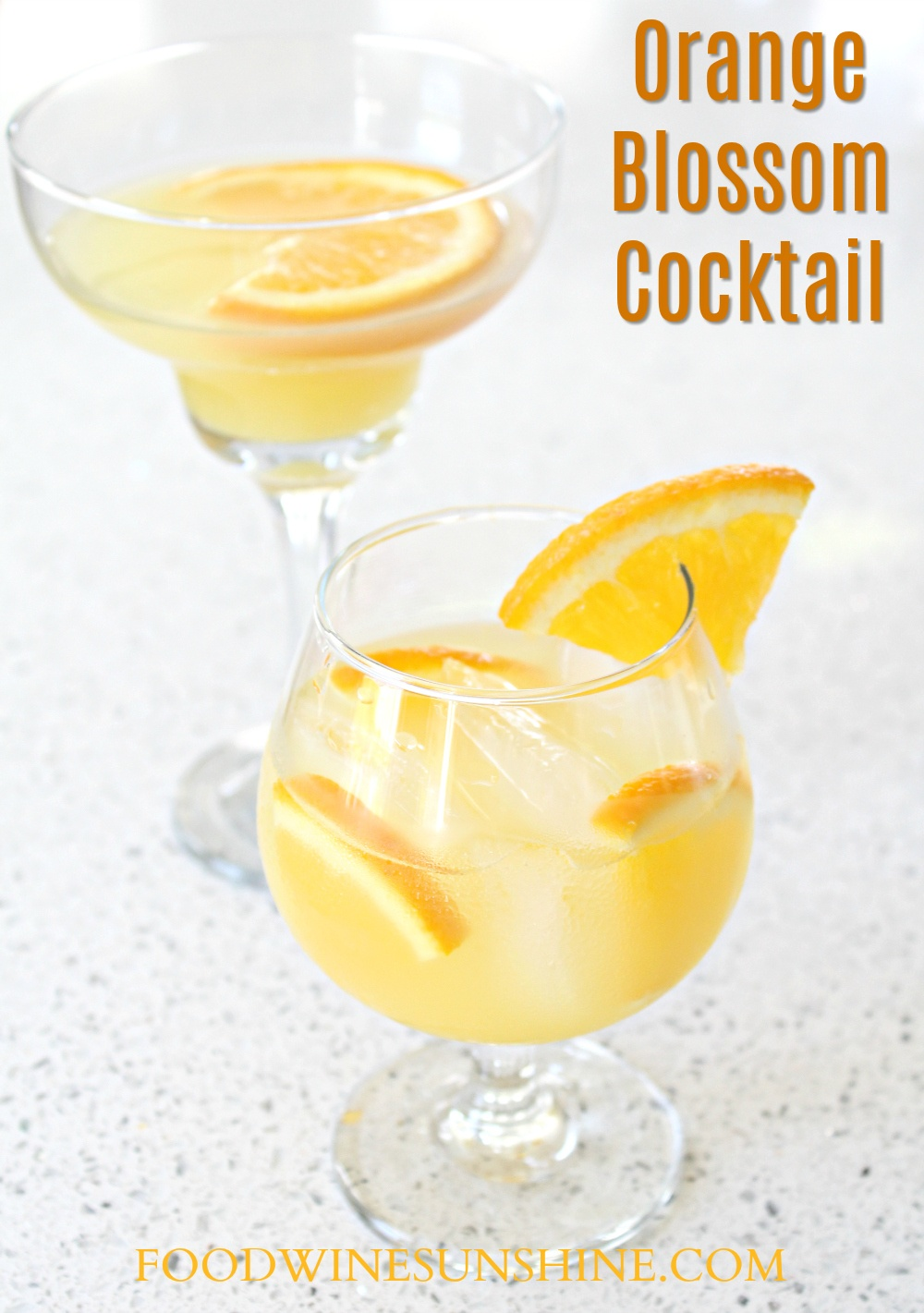 How To Make an Orange Blossom Cocktail