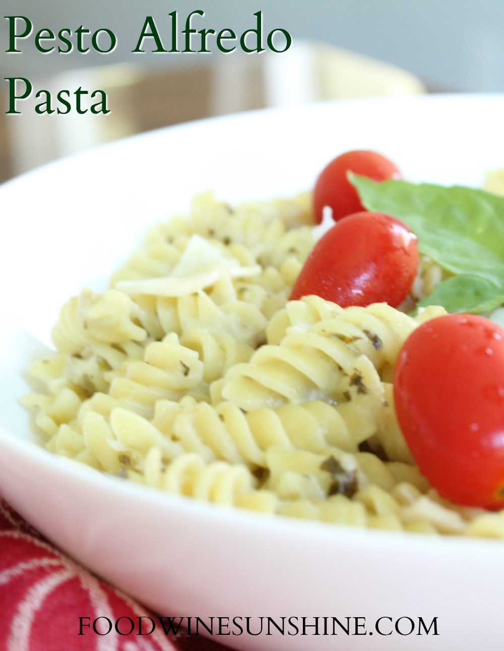 How to make Pesto Alfredo Pasta