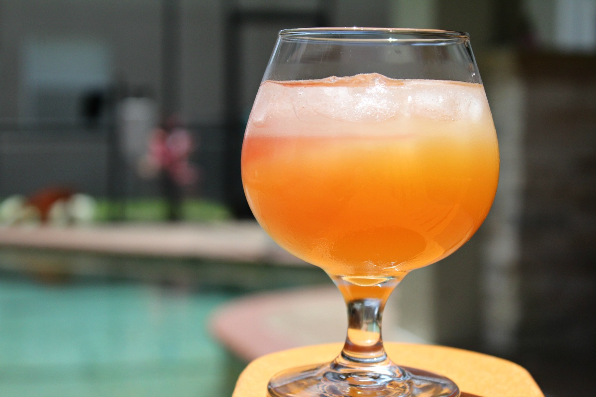 Summer Sunset Vodka Cocktail