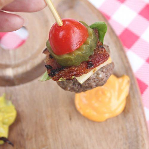 Bunless Burger Bites up close