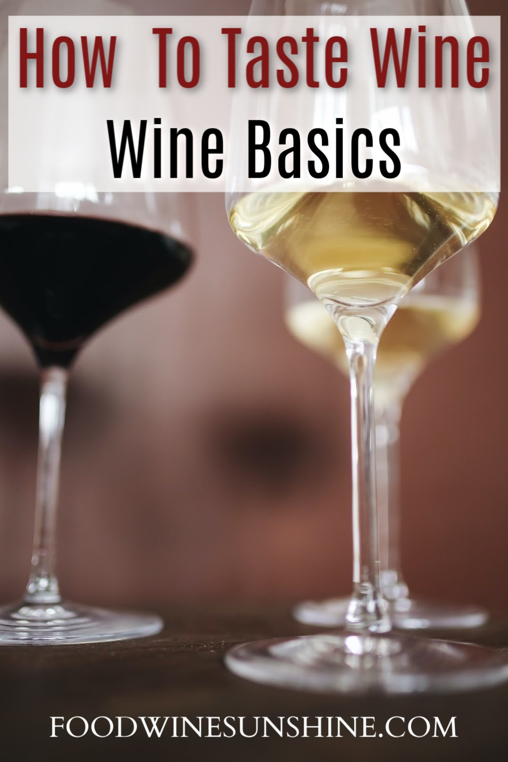 How To Taste and Describe Wine