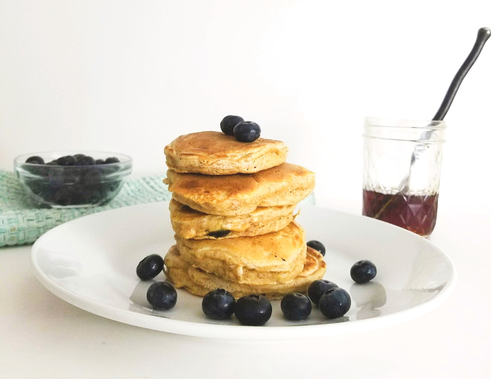 Tasty Homemade Blueberry Pancakes