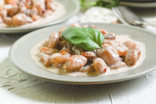 Sweet Potato Gnocchi Creamy Sundried Tomato Sauce Feature
