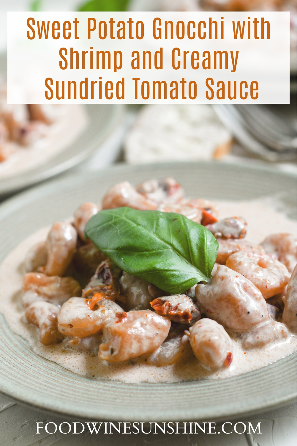 Sweet Potato Gnocchi with Shrimp and Creamy Sun Dried Tomato Sauce