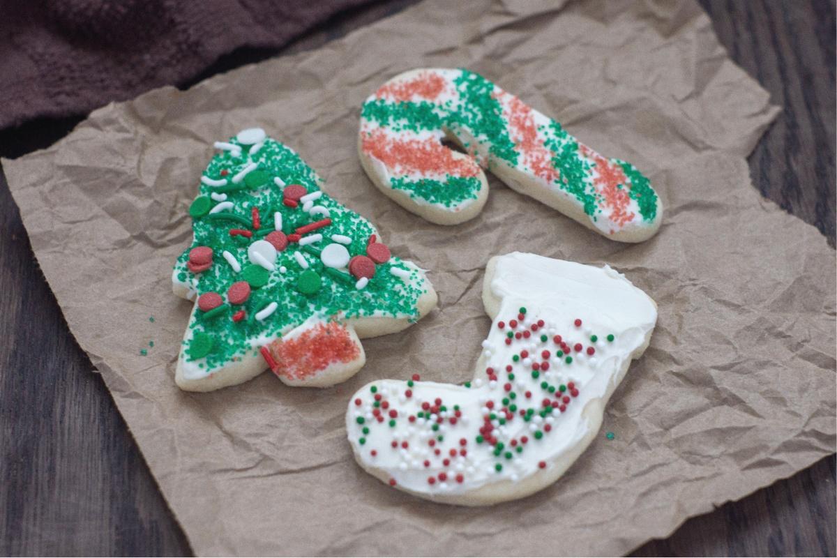 Tasty christmas sugar cookies