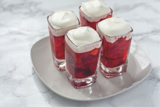 Cranberry Jello Salad with whipped topping