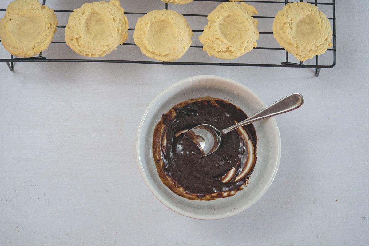 Peppermint Chocolate Ganache Cookie recipe