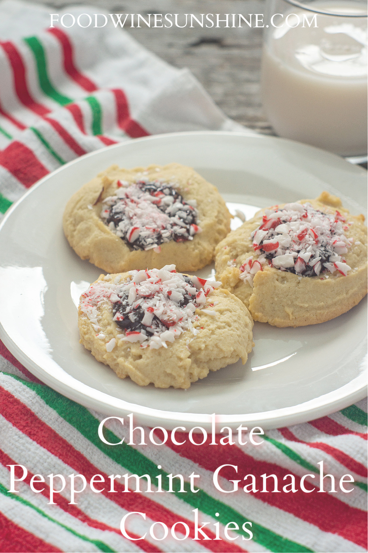 Chocolate Peppermint Ganache Cookies