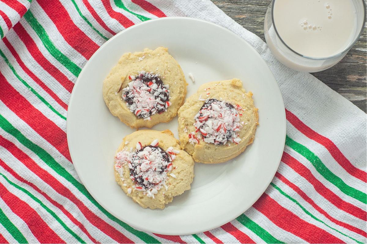 Best Peppermint Chocolate Ganache Cookies