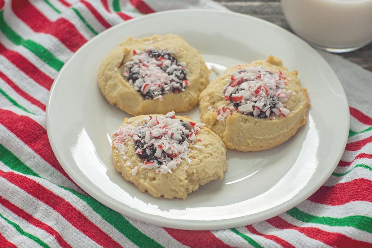 Tasty Peppermint Chocolate Ganache Cookies