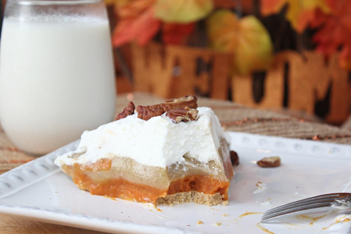 Best No Bake Triple Layer Pumpkin Pudding Pie