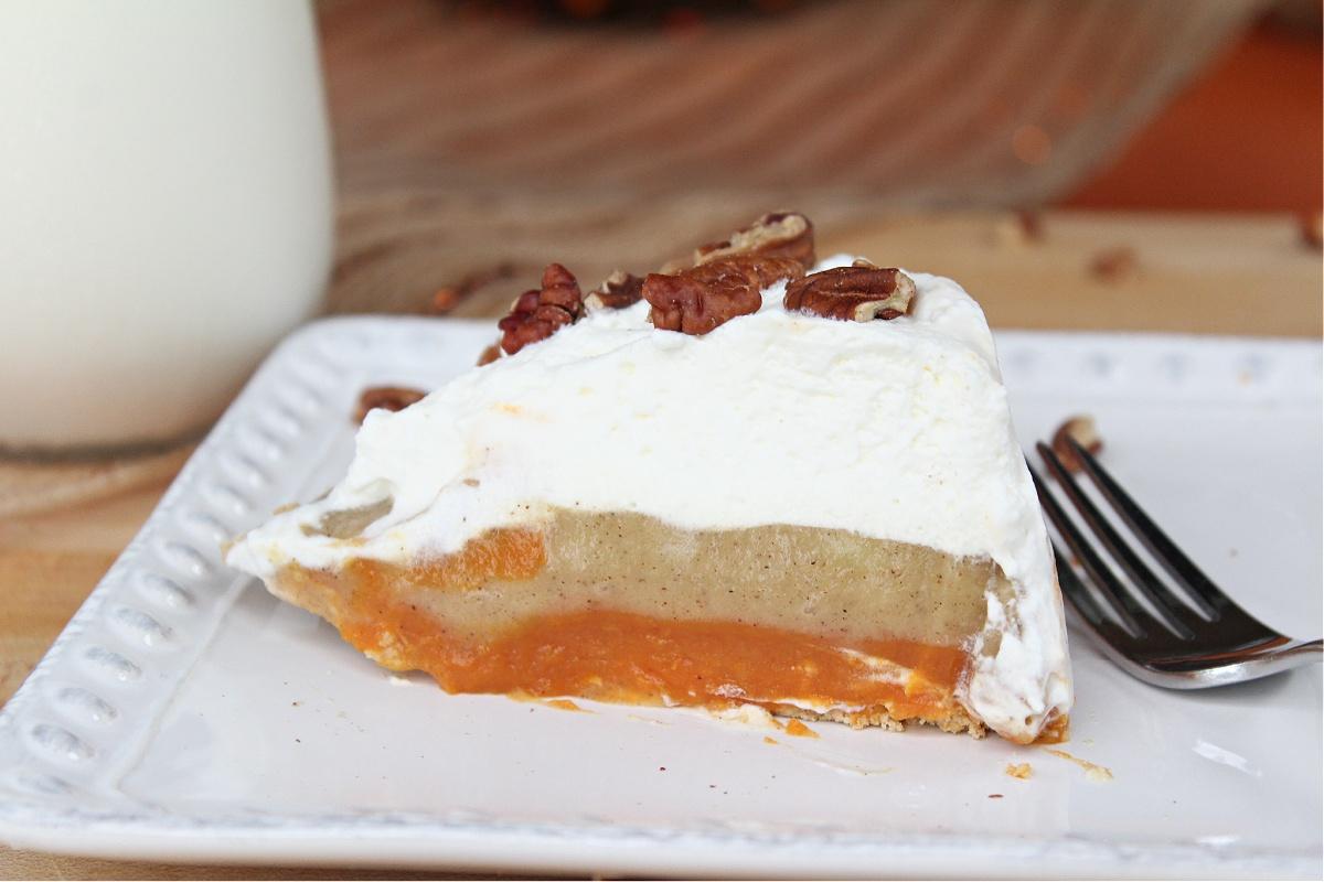 Tasty No Bake Pumpkin Spice Pudding Pie