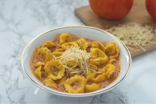Tomato Tortellini Soup Feature