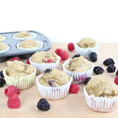 Avocado Berry Protein Muffins