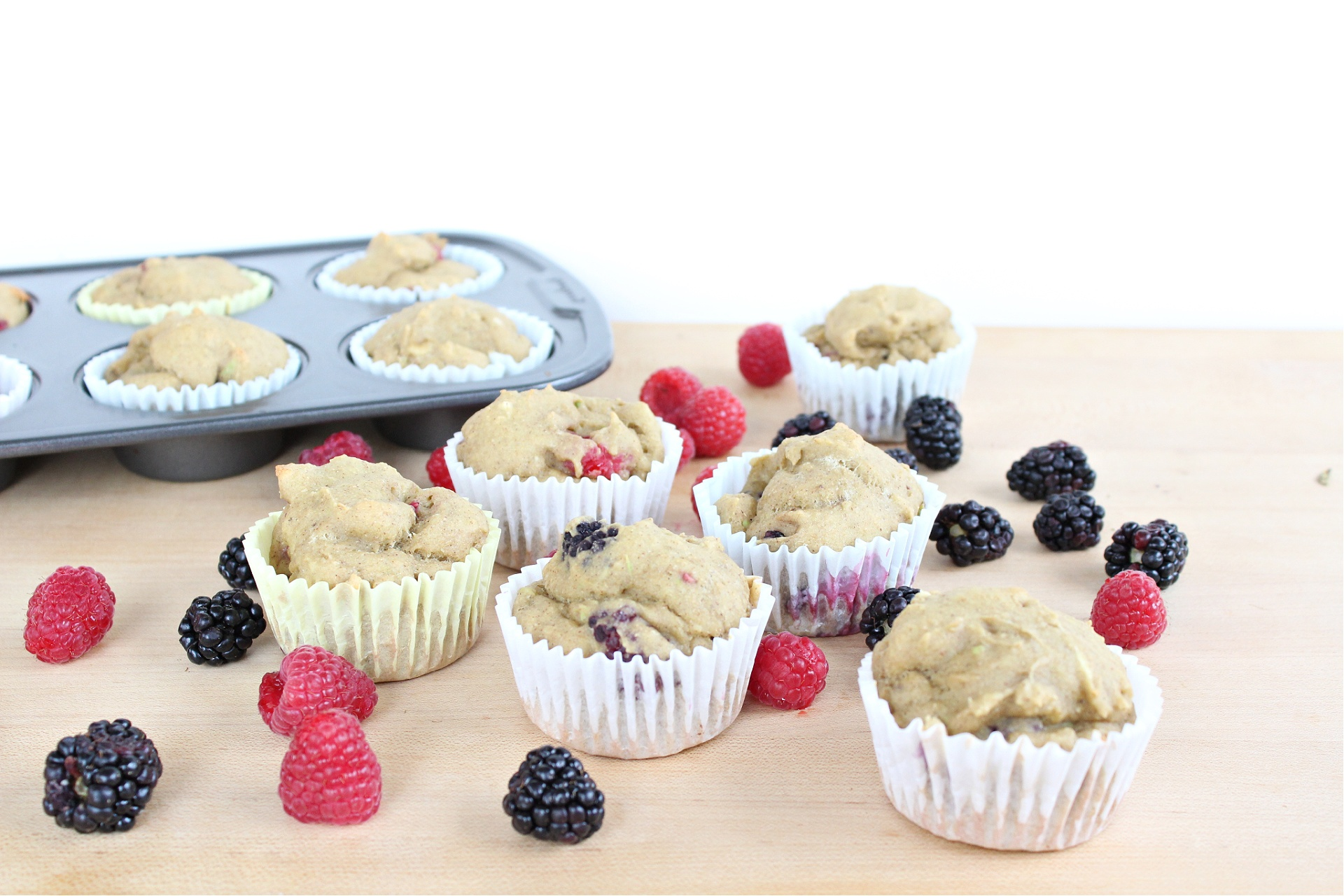 Easy Berry Avocado Muffins