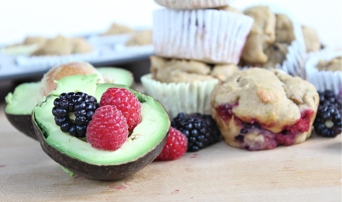 Best Avocado Berry Muffins
