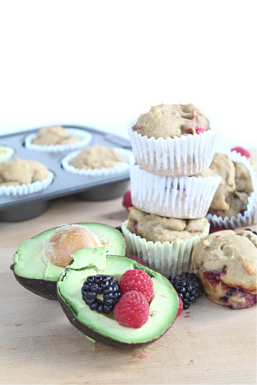 Best Berry Avocado Muffins