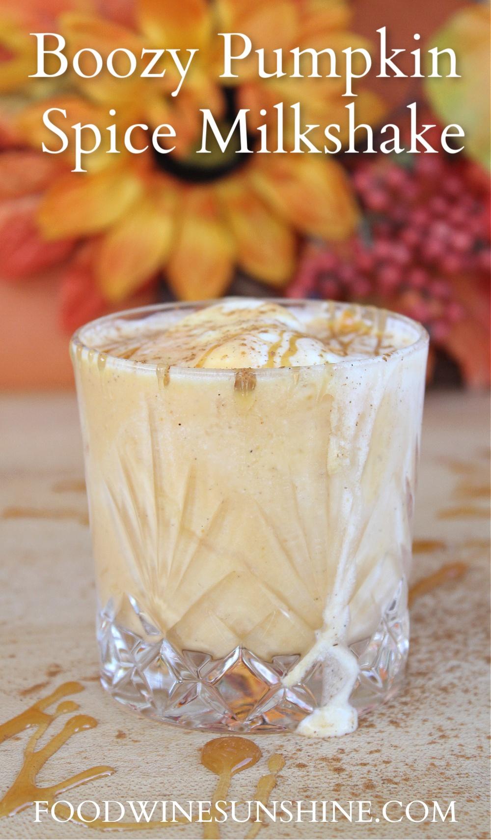 Best Boozy Pumpkin Spice Milkshake