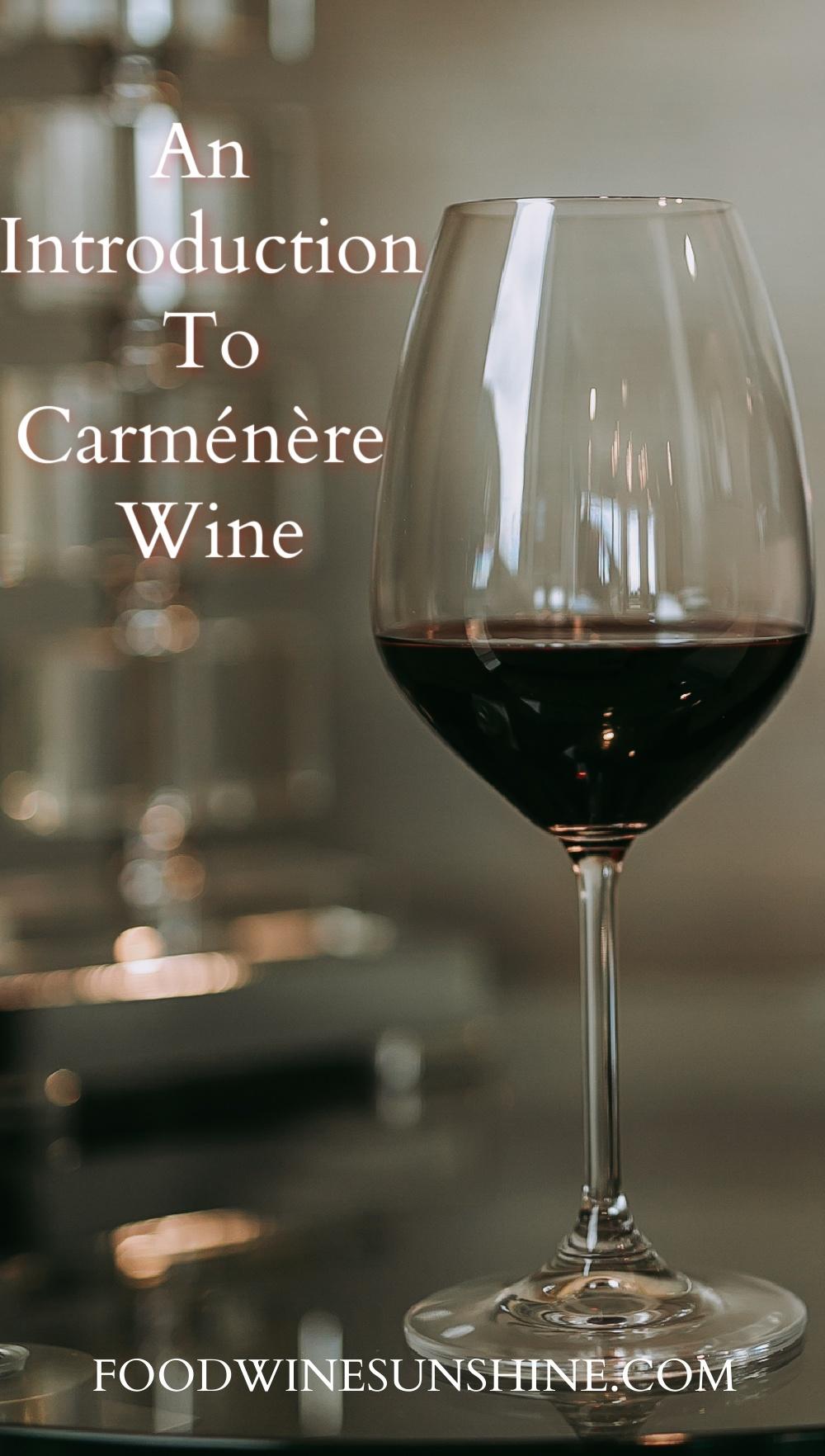 An Introduction To Carménère Wine