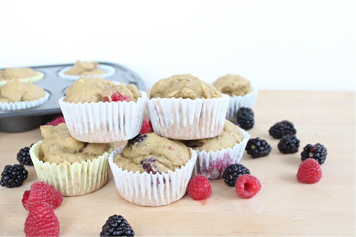 protein avocado berry muffins