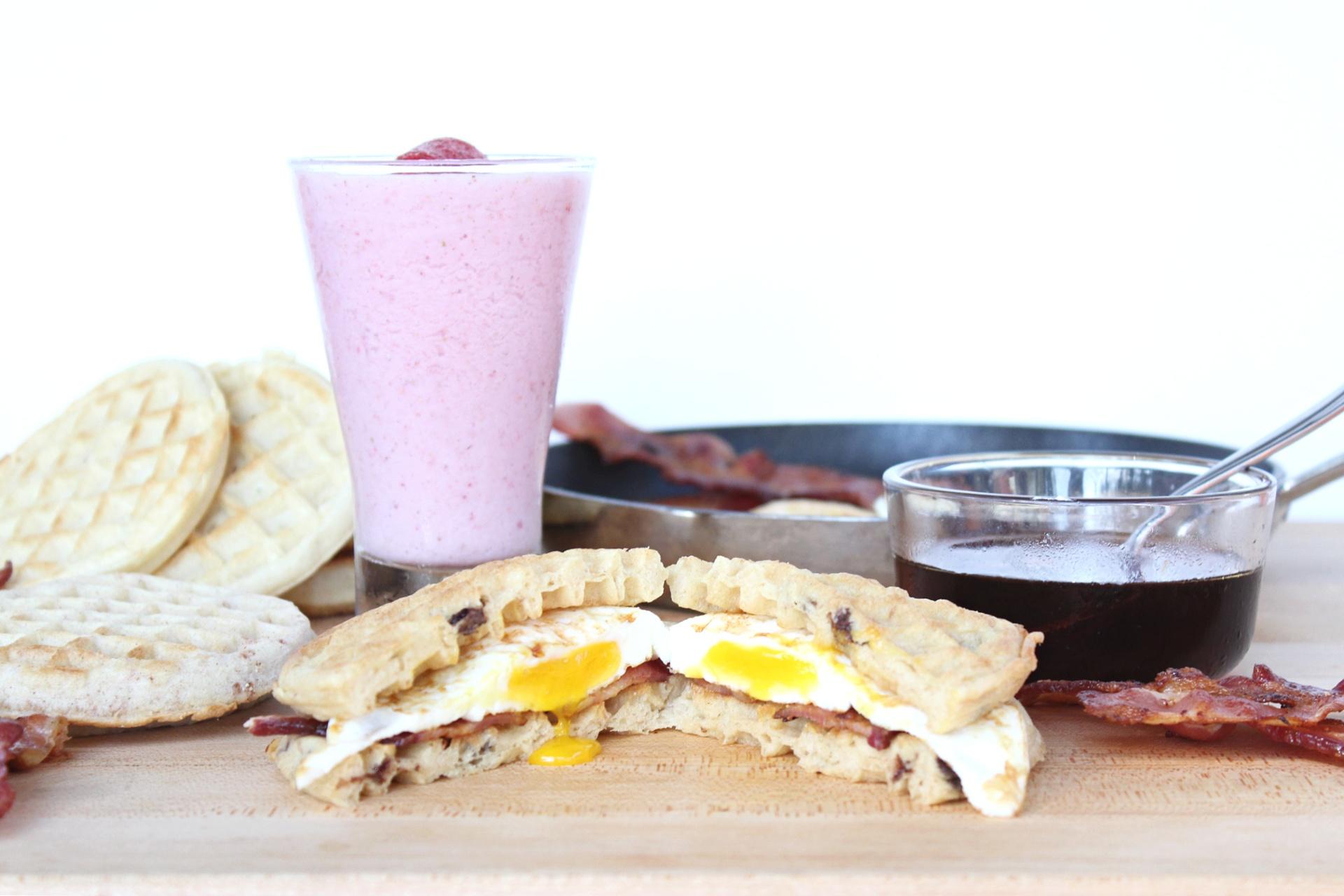 Easy Eggo Waffle Breakfast Sandwiches