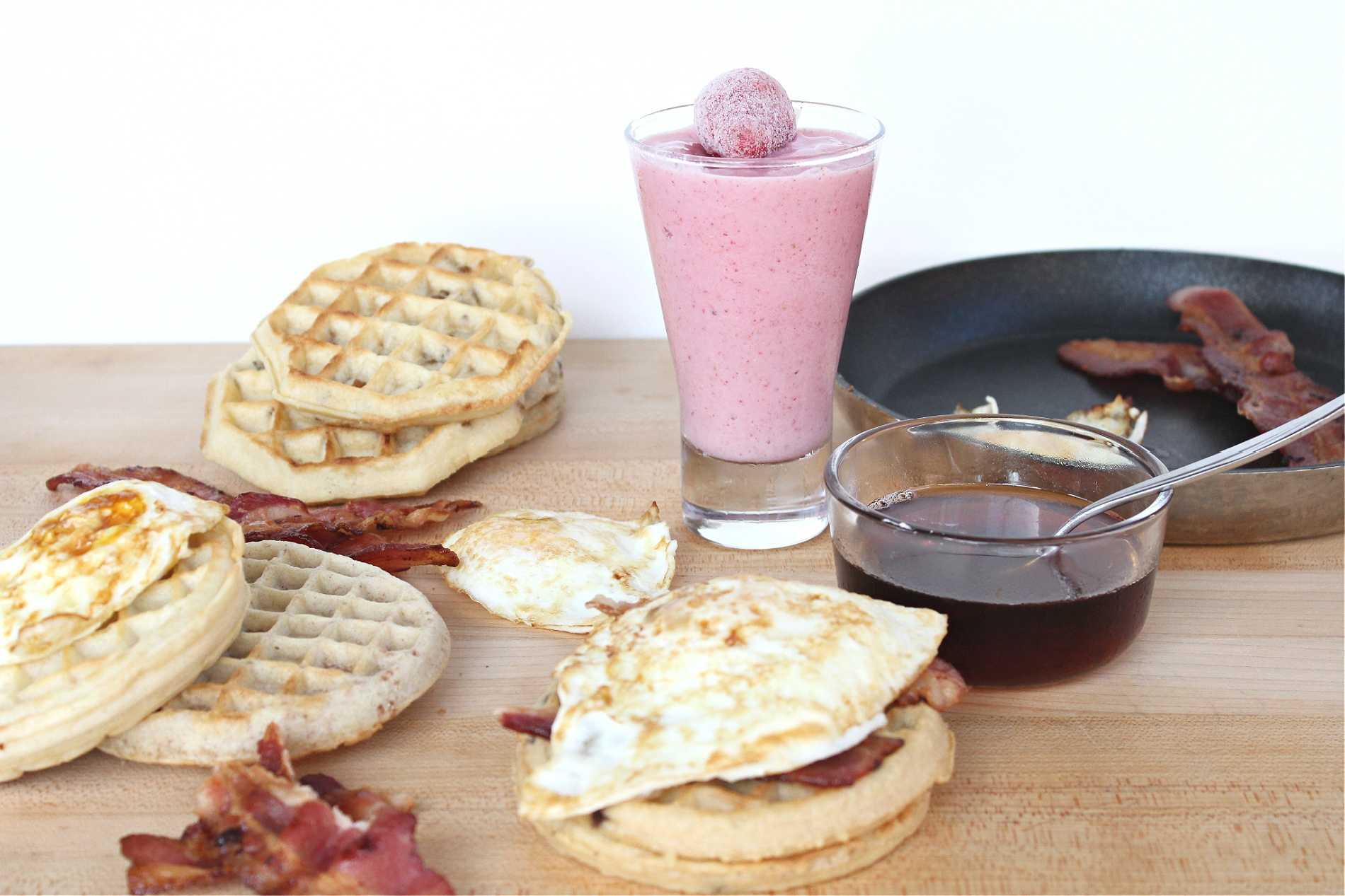 Tasty Waffle Breakfast Sandwiches