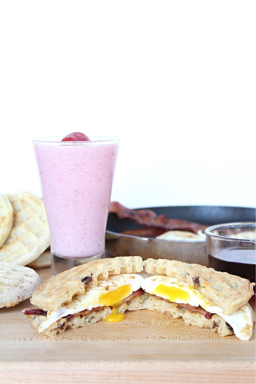 Waffle Breakfast Sandwiches