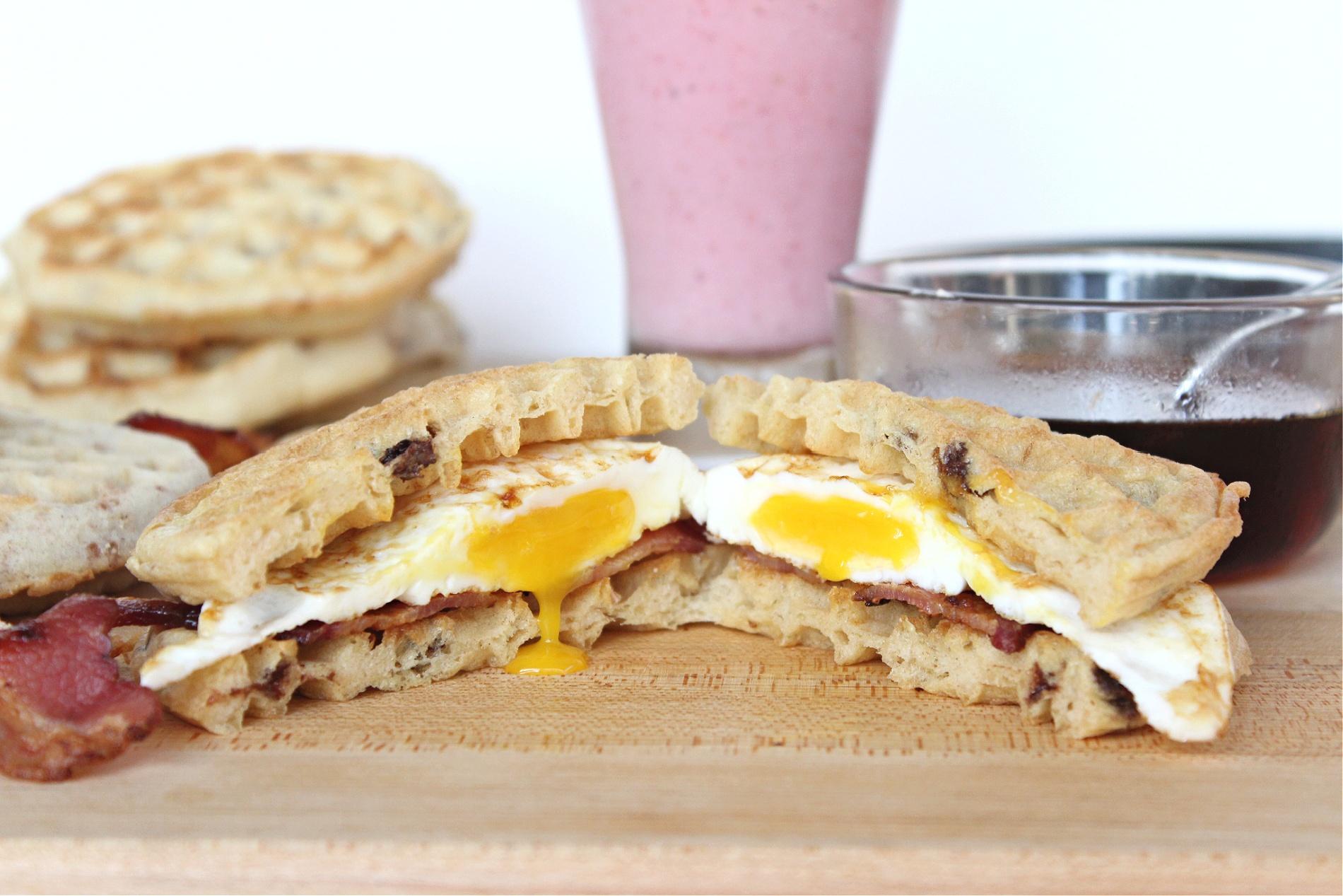 Eggo Waffle Breakfast Sandwiches