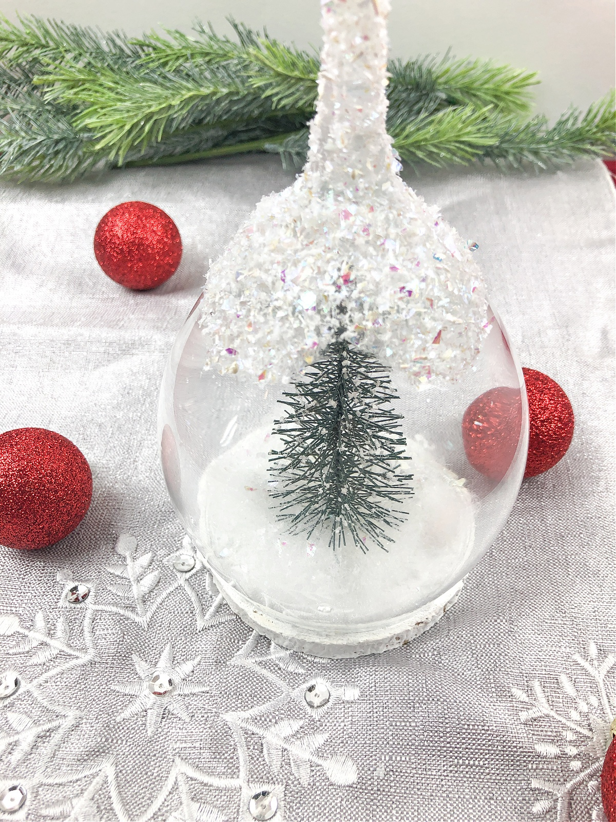 Holiday Wine Glass Candle Holder Craft