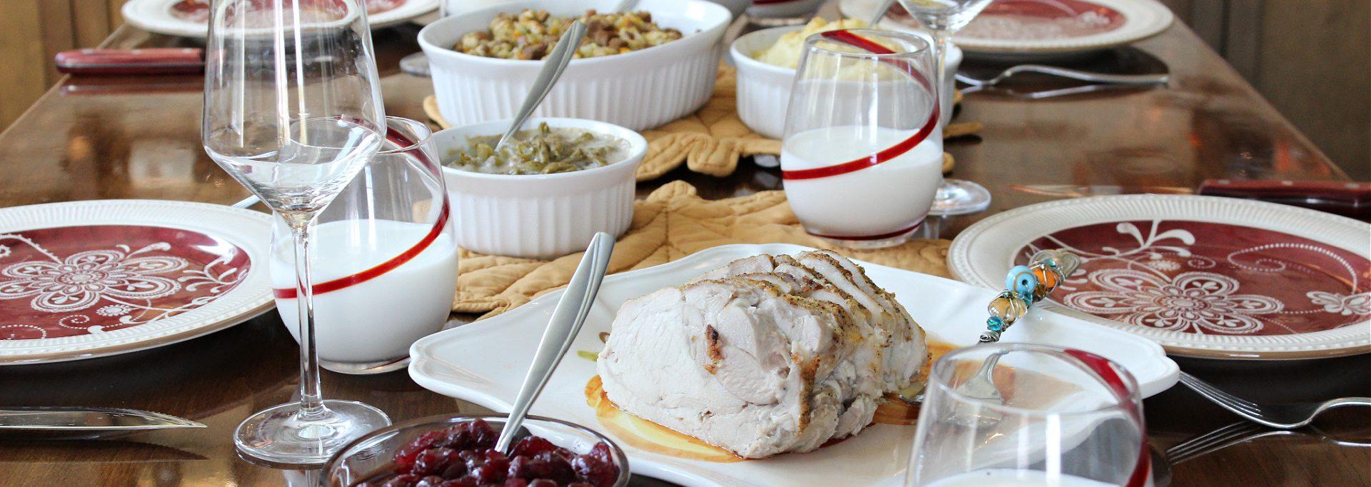 Thanksgiving Leftover Casserole Dinner Table